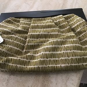 Old Navy Cloth large clutch with wooden handle